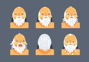 Socrates Character Head Flat Vector Illustration