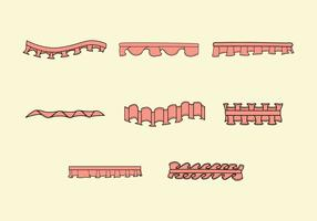 Frilly Ribbon Vectors