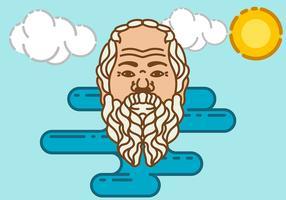 Vector de fondo de Sócrates