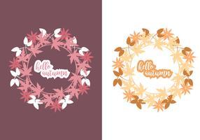 Corona de otoño Vector