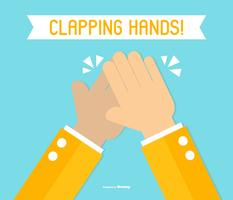 Hands Clapping Flat Style Illustration