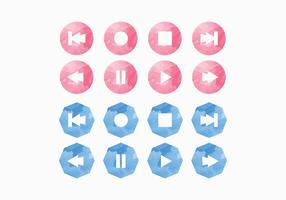 Conjunto de iconos de Vector Media Player