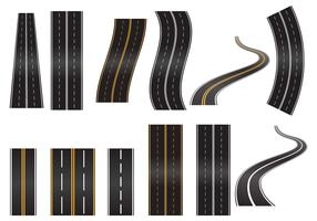 Conjunto de vetores da estrada