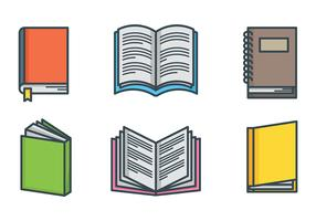 Iconos de vector de libro