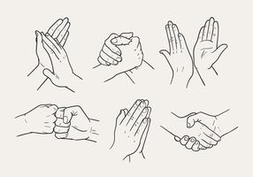 Hand Drawn Hand Gestures Vectors