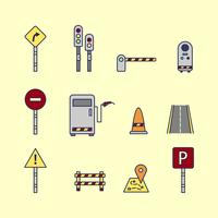 Signes de péage et de signe de la circulation