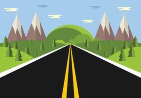 vetor de estrada livre