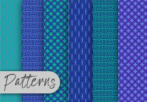 Conjunto de patrón geométrico azul