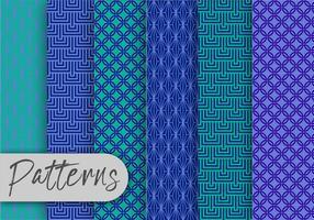 Geometric Blue Pattern set