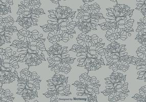 Vector Sweet Peas Flower Seamless Pattern