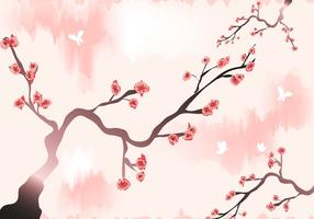 Plum Blossom Wallpaper Vector