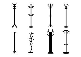 Coat stand vector set