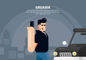 Greaser Illustration