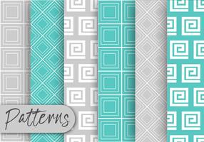 Blue And  Gray Pattern Set  vector