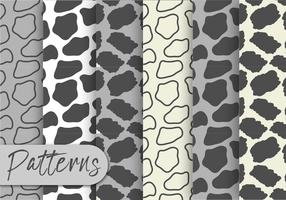 Gray Animal Print Pattern Set