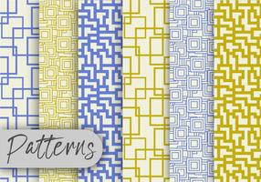 Olive And Blue Line Pattern Set