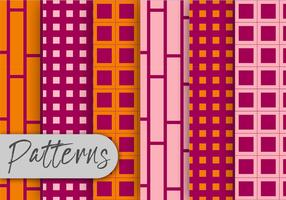 Pink And Orange Pattern Set