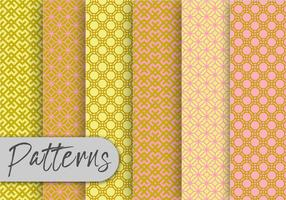 Conjunto de patrones geométricos orientales
