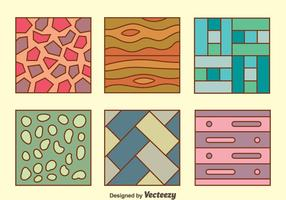 Colorful Floor Laminate Collection Vector