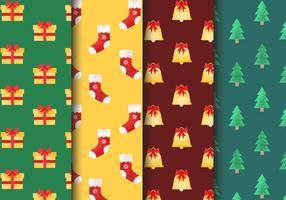Gratis naadloze kerstpatronen