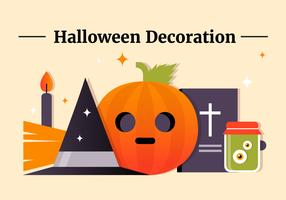 Kostenlose flache Halloween Vector Elements Collection