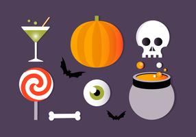Gratis Flat Halloween Vector Elements Collection