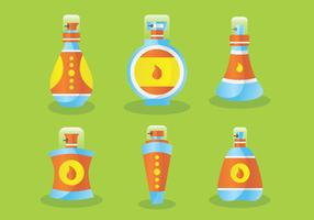 Perfume Bottles with Stoppers Vector Pack