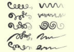 Set van Squiggle Vector
