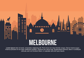 Melbourne City Vector Illustration