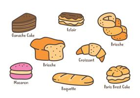 French Pastries Icon vector