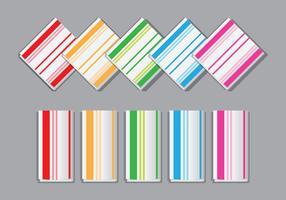 Vecteurs de serviettes rayées colorées