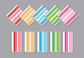 Striped Napkin Vectors