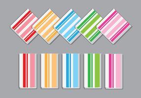 Vecteurs de serviettes rayées