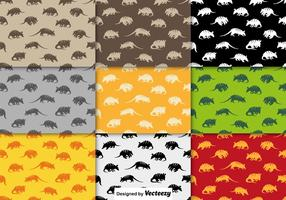 Vector Collection Of Seamless Pattern Of Armadillo Icon