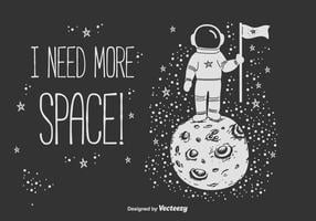 Fond de vecteur de l'espace