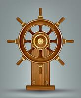 Wooden Ships Wheel Vector