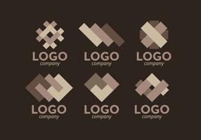 Vector de pacote de logos laminados