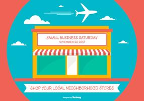 Cute Samll Business Saturday Illustration