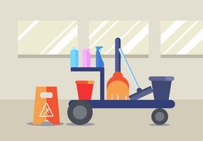 Reinigungsservice-Vektor