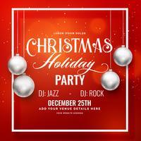 christmas season flyer party poster invitation template design
