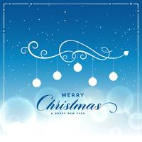 merry christmas beautiful blue background with light effect