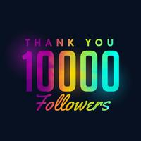 10k social media followers sucesso modelo design