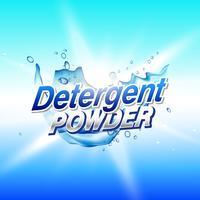 diseño de concepto de empaquetado del producto de limpieza del polvo del detergente Templ
