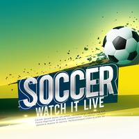 soccer game poster design with text space