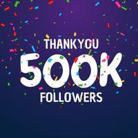 Diseño de plantilla de éxito de celebración 500k seguidores