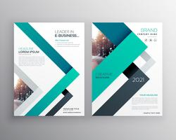 modern blue business brochure flyer poster vector design templat