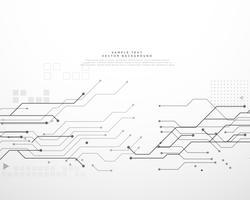 Fondo de placa de circuito de tecnología con líneas dinámicas