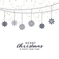 elegant christmas festival greeting background with hanging snow