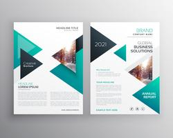 Geoemtric Triangles Business Flyer Broschyr Vektor Mall
