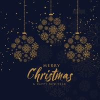 elegant merry christmas background made with snowflakes in premi